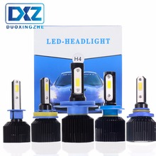 DXZ 2Pcs Car LED Headlight H1 H3 H4 H7 H8 H11 9005 9006  72W 8000LM Bulb Fog Light 6500K 12V 24V