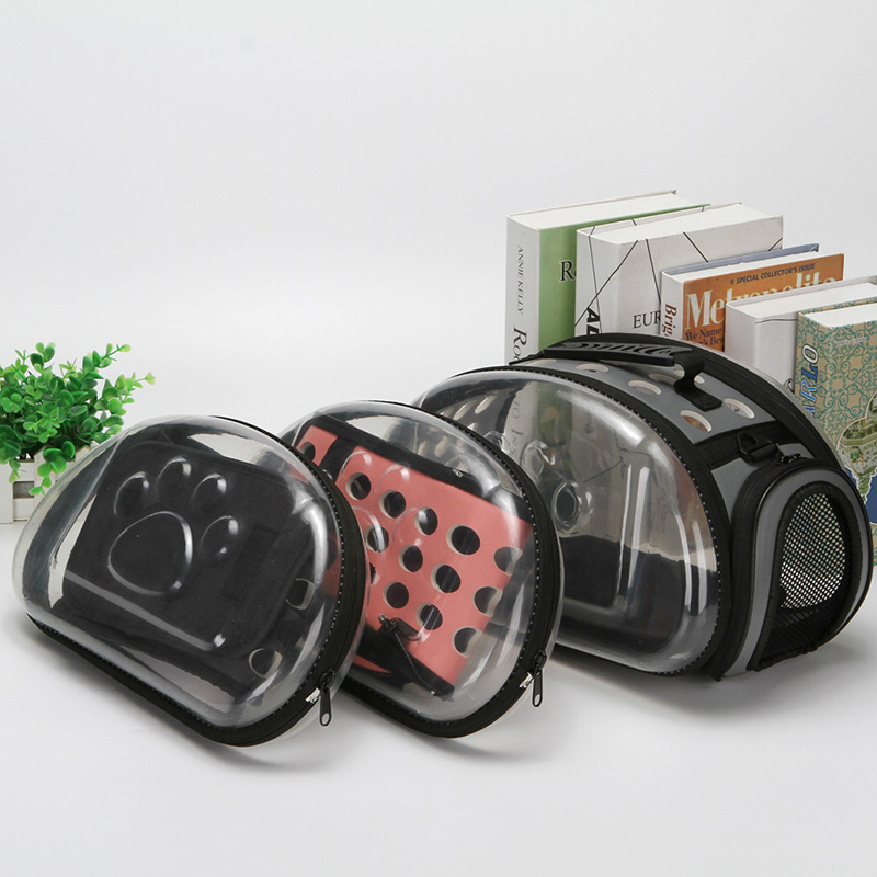 Transparent Cat Dog Carrier Bag Breathable Pet Travel Handbag Foldable Outdoor Shoulder Bags Puppy Travel Carrying Bags for dog in Dog Carriers from Home Garden