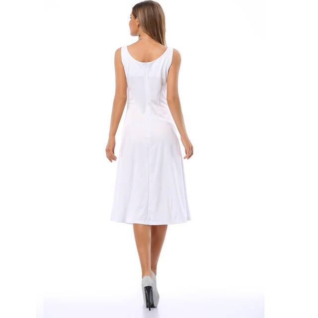 6fd5e9cc799 placeholder 2018 Solid Strapless Longuette Summer Sundress Dresses White  Long Casual Sundresses Tank Slim Vest Simple Basic