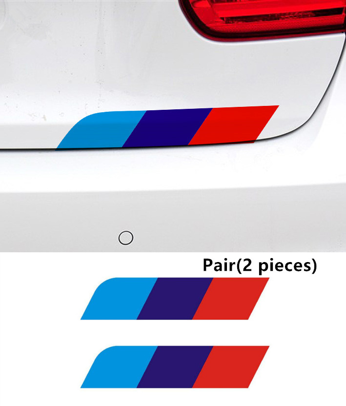 M Tricolor Vinyl Decal Stickers 2pcs For Bmw 1 2 3 4 5 7 Series 3gt X1 X3 X4 X5 X6 Car Body M