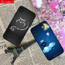 Bioumei owl and night Soft TPU Case for iphone XS XR XS Max owl Cover Case for iphone 7 8 6 6S Plus X case 21 стоимость