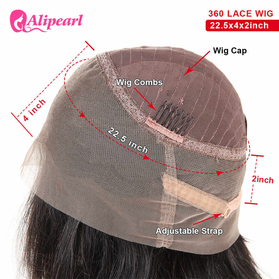 360 Lace Frontal Human Hair Wigs Pre Plucked Body Wave Lace Front Wigs 150% 180% 250% Density Brazilian Wigs Remy AliPearl Hair