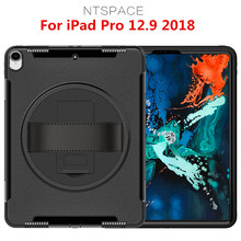 NTSPACE Tablet Case For Apple iPad Pro 12.9 inch 2018 Heavy Duty Kickstand Holder Cover Full Protection Shockproof Armor Case ntspace tablet hand strap case for apple ipad pro 12 9 inch 2017 2015 holder case heavy duty hybrid shockproof armor cover case