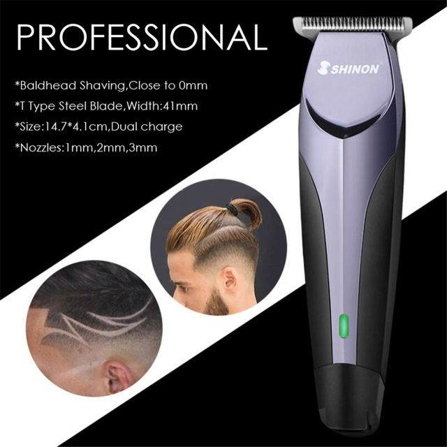 Professional Precision Hair Clipper Rechargeable Electric Hair Trimmer 0.1mm Cutting Barber Styling Tool Shaving Haircut Machine