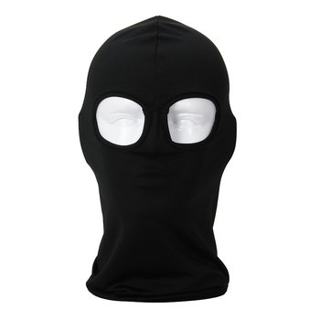 2 Hole CS Games Black Balaclava Breathable Combat Paintball Sun Cap Hat Tactical Snowboard Head Cover Protect Full face Mask face mask