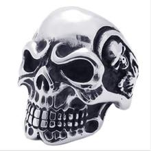 Новое поступление, панковские кольца в виде черепа для мужчин, титановые трендовые кольца из нержавеющей стали с черепом, модные ювелирные изделия для пары, подарки на Хэллоуин