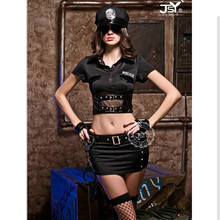 9611 New Ladies Police Fancy Halloween Costume Sexy Cop Outfit Woman Cosplay Sexy Erotic Lingerie Police Costumes for Women