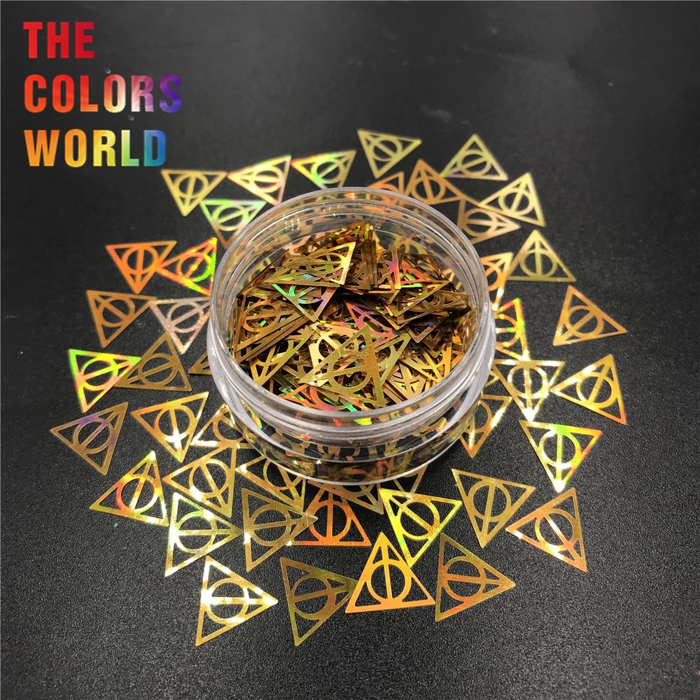Image 5 - Hollows Triangle 10MM Nail Glitter Nail Art Decoration Makeup Handwork Tumblers Craft DIY Accessoires Festival Party Supplier-in Nail Glitter from Beauty & Health