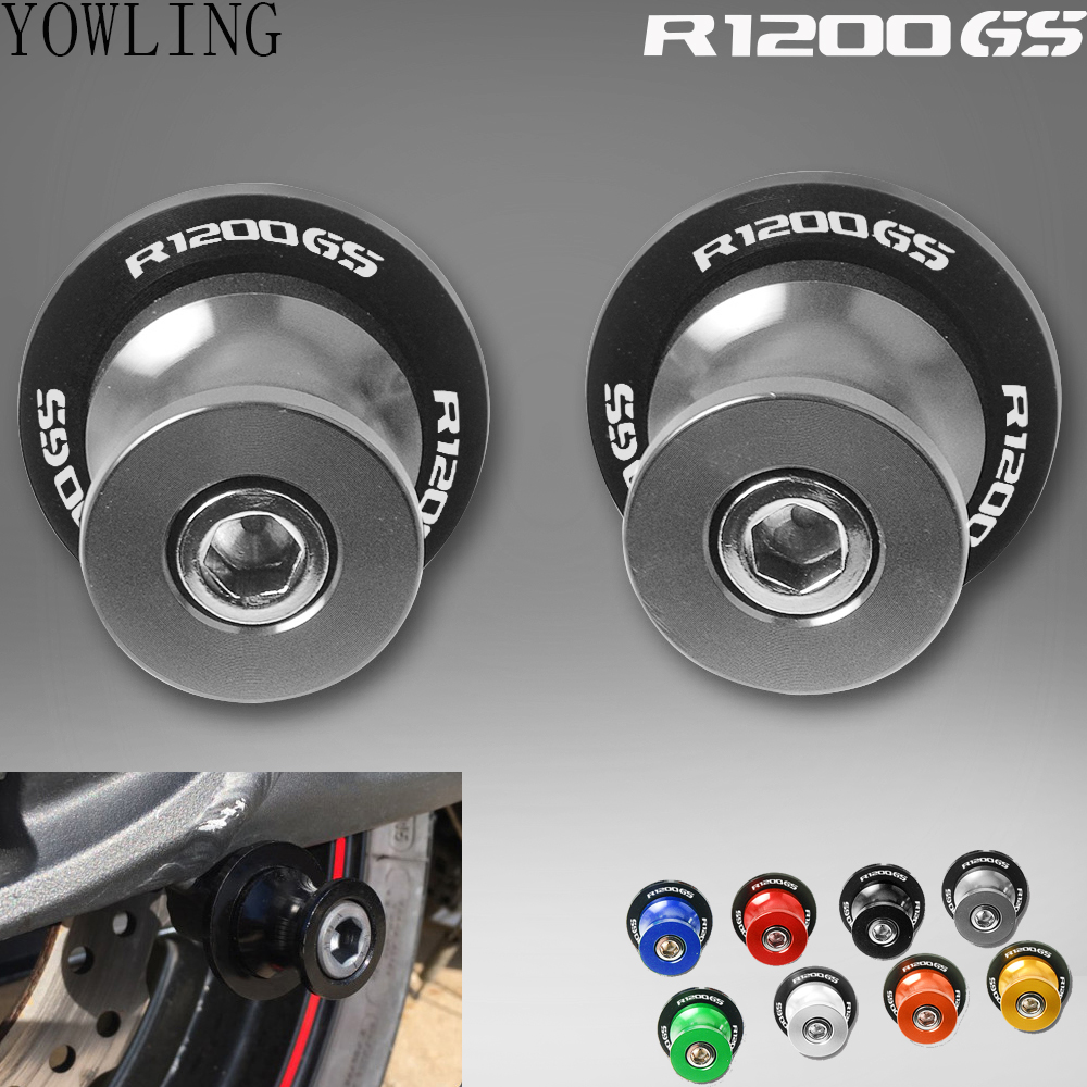 Motorcycle CNC Aluminum Swingarm Spools slider For <font><b>BMW</b></font> <font><b>R1200GS</b></font> ADVENTURE 2004-2012 2007 <font><b>2008</b></font> 2009 2010 stand Screws accessories image