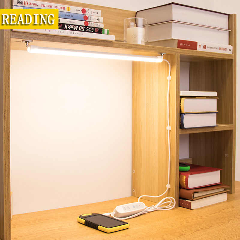 Bed Reading book Light LED Desk lamp 5W 5V  Desk lamp USB led Table Lamp  with Clip  Table Touch 3 Modes 24 LED Table lamp