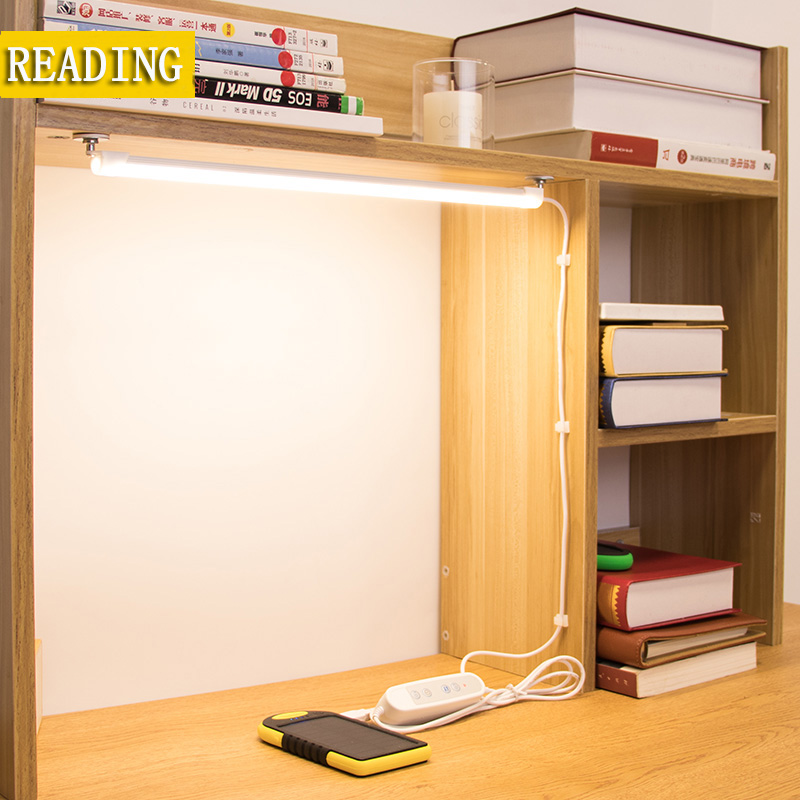 Bed Reading book Light LED Desk lamp 5W 5V Desk lamp USB led Table Lamp with Clip Table Touch 3 Modes 24 LED Table lamp led reading eye protection desk lamp brightness usb rechargeable led desk table lamp light with clip touch switch