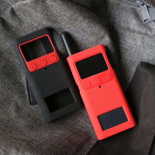 Capa protetora caso de silicone luva da pele acessórios portáteis para xiaomi mijia inteligente walkie talkie 1 s rádio