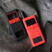 Di protezione Della Copertura Del Silicone Della Cassa Del Manicotto Della Pelle Portatile Accessori per Xiaomi Norma Mijia Smart Walkie Talkie 1S Radio