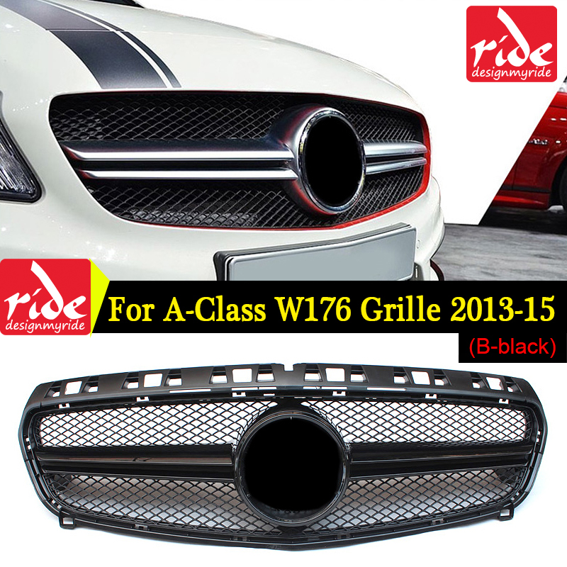 W176 Front Mesh Grille ABS Black Suitable For M B W176 A CLASS A180 A200 A250