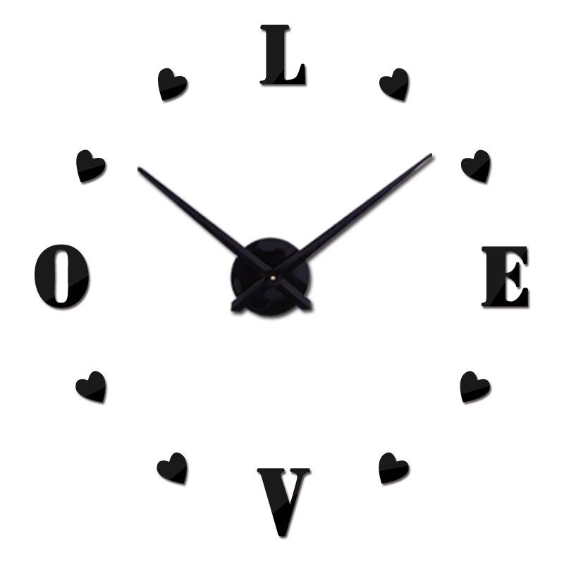 Diy Mirror Acrylic Wall Clock Clocks Hot Sale 12S011home Decoration Modern 3D Big Wall Sticker Still Life Quartz Needle Watches