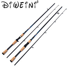 New Design 2.1M 2 Segments Spinning/Casting M Power Spinning Fishing Rod Carbon Fiber Casting Lure Fishing Rods