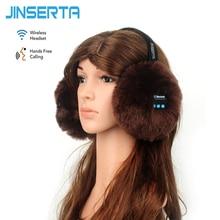 Buy online JINSERTA Wireless Bluetooth Headset Headphone Music Warm Winter Earmuff for iphone Samsung mp3 mp4 Ear cover for Women&Girls&Men