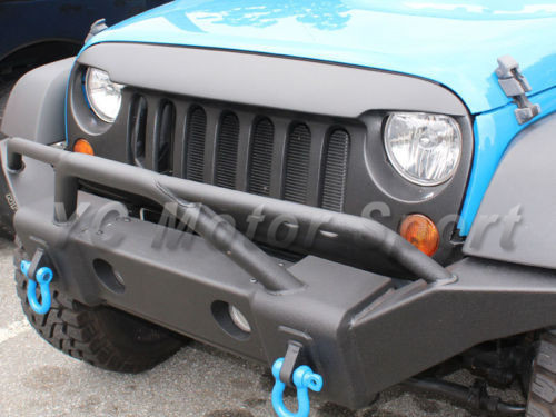 Car Accessories FRP Fiber Glass Angry Bird Style Front Grille Fit For 2007 2013  Jeep