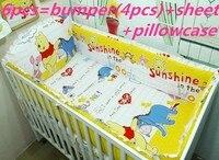 Promocja! 6 szt niedźwiedź pościel zestaw do łóżeczka!!! łóżeczko dla dziecka łóżko, sprzedaż hurtowa i detaliczna dzieci cot zestawy (zderzak + karta + pokrywy poduszek)