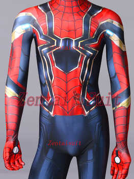 Iron Spiderman Superhero Costume MCU Version 3 Spiderman Costume Spandex Cosplay Halloween Suit For Adult/Kids/Custom Made - DISCOUNT ITEM  0% OFF All Category