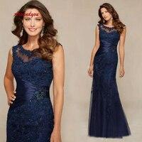 Кружевные платья для матери невесты на свадьбу темно синие сексуальные платья жениха крестная мать ужин платья 2019
