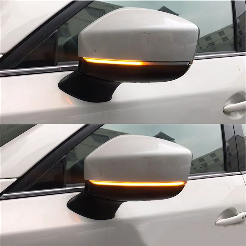 2pcs For Mazda CX-5 CX5 2017 2018 CX-8 CX-9 CX9 Dynamic Turn Signal LED Side Rearview Mirror Indicator Sequential Blinker Light