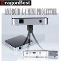 Lo nuevo Full HD Android 1G/8G S5 Portátil Mini Proyector DLP Proyectores de Vídeo Digital Multi media Player Li-ion batería Wifi