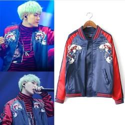 Kpop new SUGA blue embroidery loose zipper baseball hoodies women 2019 korean Bangtan Boys hip hop Harajuku baseball sweatshirt 1