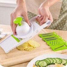 7 in 1 Vegetable Fruit Slicers Cutter Adjustable Stainless Steel Blades Multi-function ABS Peeler Grater Slicer Salad Maker