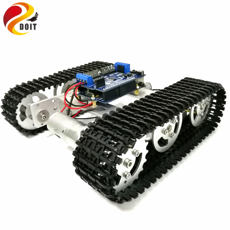 DOIT Mini T100 Crawler Metal Tank Robot Chassis with Arduino Wireless WiFi Controller Kit for Modification RC Toy by APP Phone doit rc metal robot tank chaiss t300 wireless wifi car with esp8266 development board kit remote control page 4
