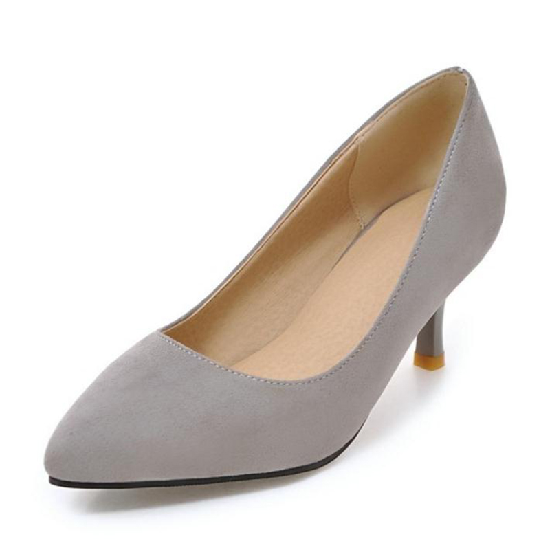 Size 32-43 Female Thin High Heel Shoes Women Nude Color Sexy Party High  Heels Pumps Pointed Toe Office Lady Heeled Footwears 5aaa54d814b0