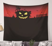 CAMMITEVER Halloween Pompoen Scary Night Bat Grave Tapijt Muur Decoratie Strand Handdoeken Home Decor Opknoping Living Yoga Mat(China)