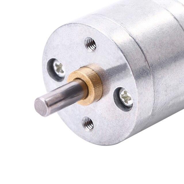 Motor de engranajes JGA25-370 DC motor 6V 12V motor de engranajes eléctricos de alto par 5/10/15/30/60/100/150/200/300/400/500/1000/1200 rpm