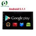Quad core 2 дин android 5.1.1 2din универсальный Автомобильный Радиоприемник с Двойным автомобиль DVD GPS Навигация В тире ПК Автомобиля Стерео видео бесплатно доставка