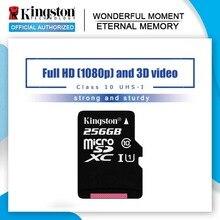 Kingston carte Micro SD, 8 go/16 go/32 go/64 go/100% go/128 go, sdxc, classe 10, mémoire Flash, TF, 256 originale
