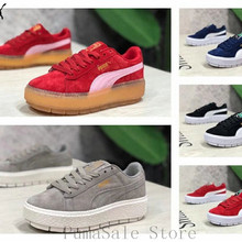Puma Platform Trace Wins Badminton Shoes Thick Bottom Rihanna Sneaker Low  Top Sports Shoes Size EUR35 69e435dd1