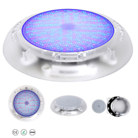 Boruit 18W 252 SMD LED Underwater Fountain Lamp IP68 Waterproof Swimming Pool Disco Party Spa Bath