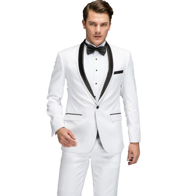 Men Wedding Suits 2017 Latest Coat Pants Vest Designs Black Tie Dress Suit Set Groom