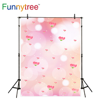Funnytree Backdrop For Photo Studio Pink Boken Halo Flower Shiny Background Photography Photobooth Photographic
