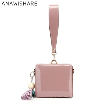 ANAWISHARE Women Day Clutches Leather Handbag Tassel Crossbody Bag For Women Messenger Bags Envelope Evening Party Bags Df323