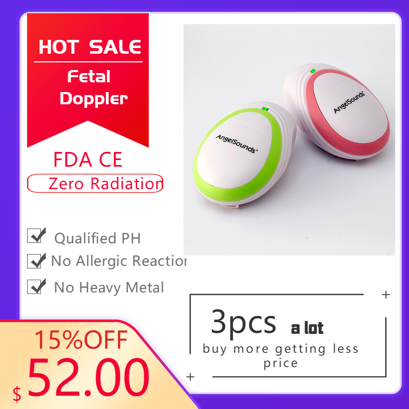 3pcs CE FDA Factory Direct Fetal Doppler Pocket Ultrasound Fetal Monitor Prenatal Monitor Angelsound