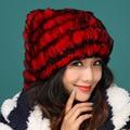 2016 осень зима Новый Настоящее трикотажные кролик меховая шапка толстый шерстяной подкладка зима женщины шляпа кошка уголок шлем прекрасные зимние шапки бомбардировщик шляпы