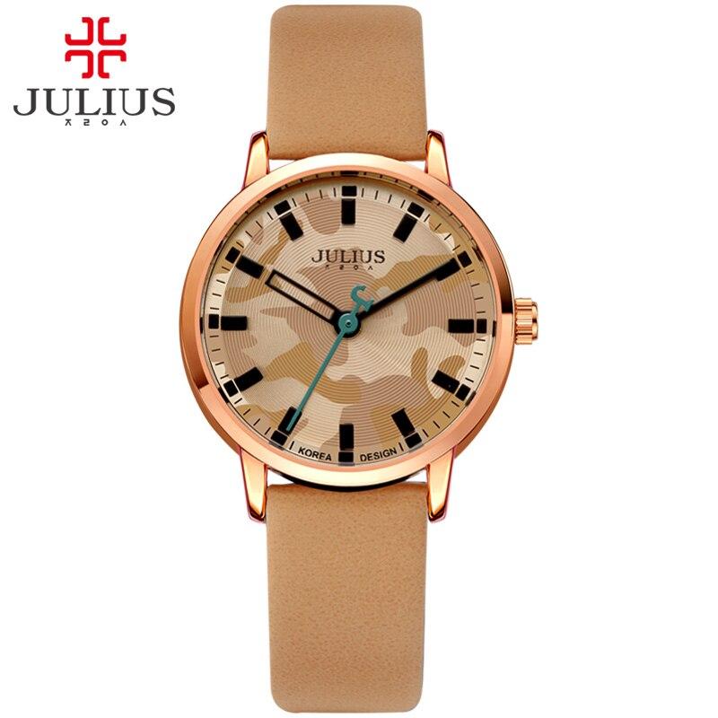 JULIUS Montre Stainless Steel Back Water Resistant Japan Quartz Movt Watches Simple Retro Military Camo Women horlog Hour JA-923