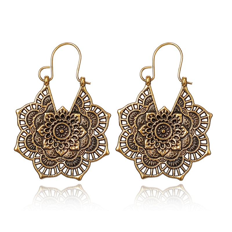 Women's Lace Mandala Drop Earrings 3