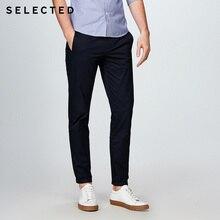 Seçilen pamuk iş eğlence düz bacak uzun pantolon S
