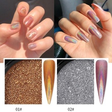 1 Box Holographic Powder Glitter Laser Nail Rainbow Chrome Mirror Holo Dust Art
