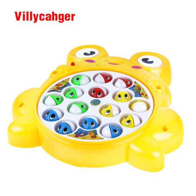 frog or crab shapes fishing toys electric rotating fishing game children learning toy set Fishing Rod toy gift for kid
