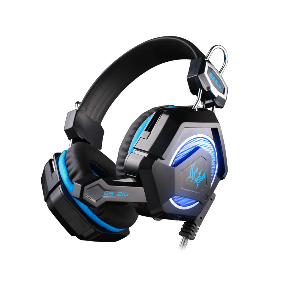 NIYOQUE GS210 Stereo Gaming Headphone Computer Game Headset Headband with Colorful Breathing LED Light Mic For PC Gamer