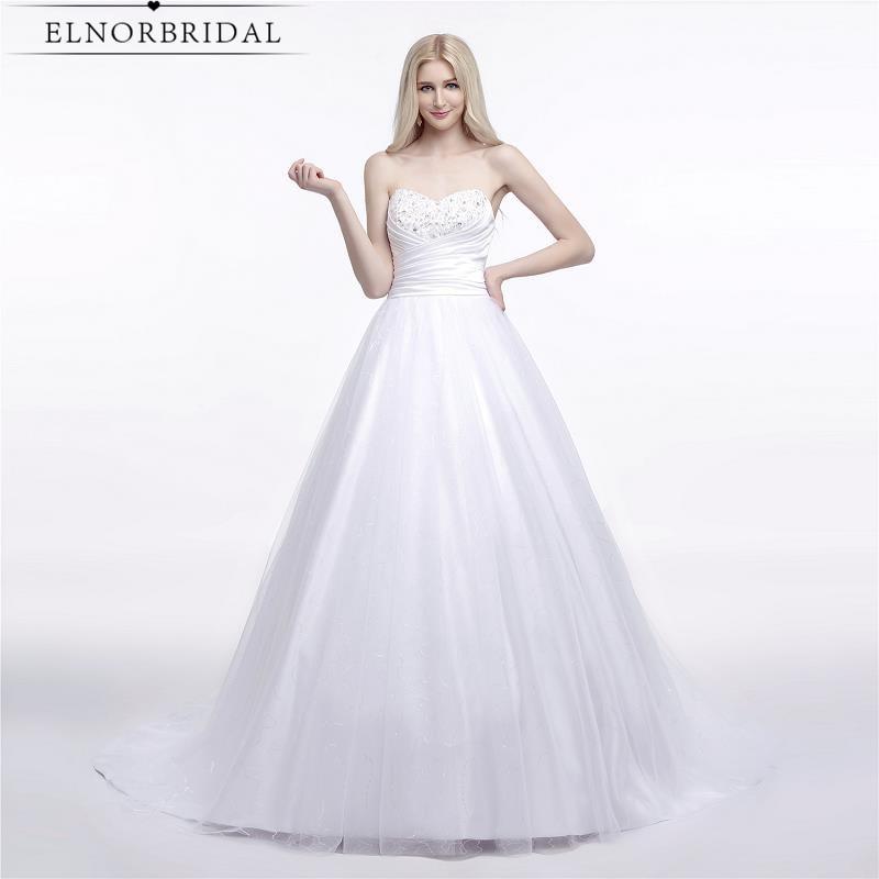 Gaun Pengantin Sederhana 2019 A Line Designer Robe De Mariee Corset Kembali Bridal Gowns Handmade Beli Langsung Dari Cina