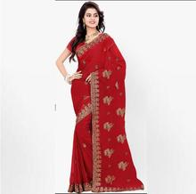 2017 New Fashion classic style Indian Saree Hand embroidery clothes High Quality Sari indian clothing(China)